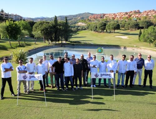 La empresaria Marta Raspall y el bodeguero Juan Antonio Lara se hacen con la victoria en el II Torneo Santa María Golf de Marbella All Stars